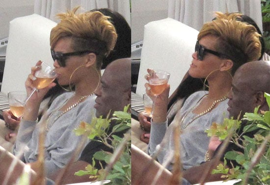 Photos of Rihanna Relaxing by the Pool in Miami
