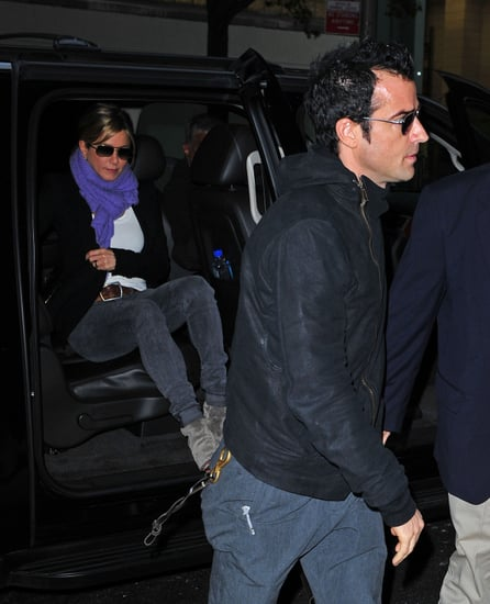 Jennifer Aniston and Justin Theroux were out and about in NYC.