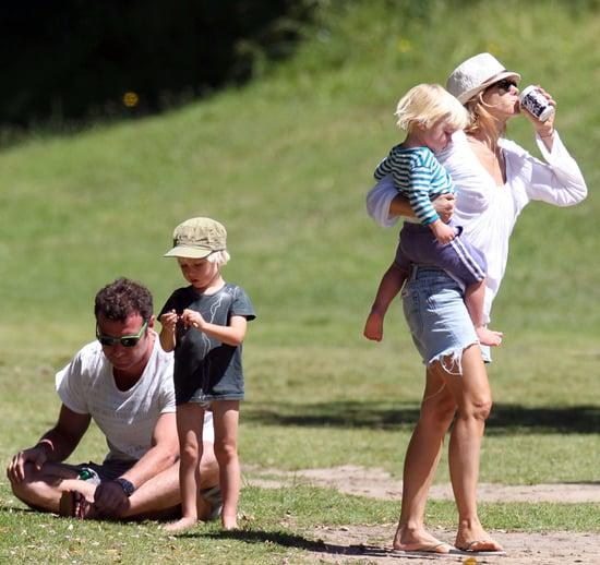 Pictures of Naomi Watts, Liev Schreiber, Samuel Schreiber, and Sasha Schreiber at the Park in Sydney