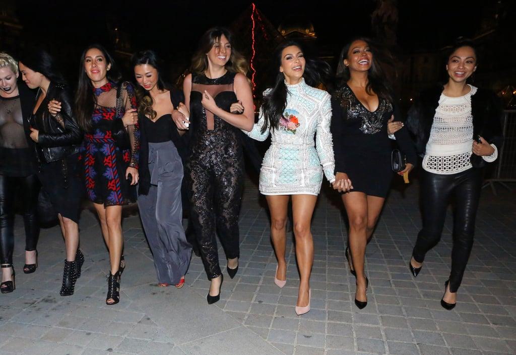 Kim Kardashian Goes Sightseeing During Her Bachelorette Party