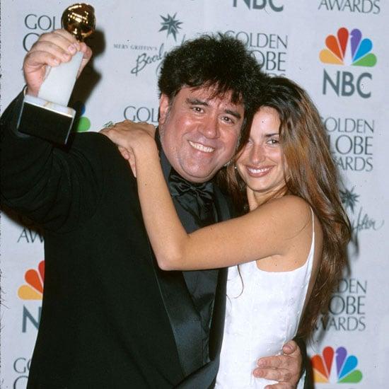 Pedro Almodovar and Penelope Cruz celebrated their win in the press room in 2000.
