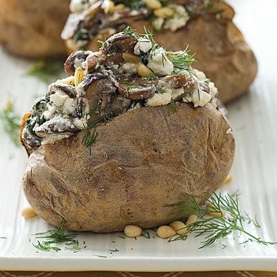 Spinach, Mushroom, and Feta Stuffed Baked Potato Recipe