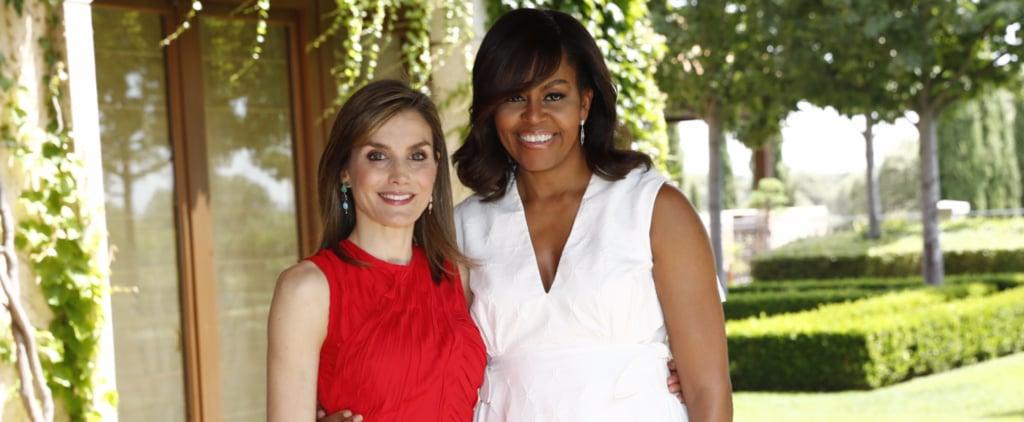 Michelle Obama and Queen Letizia Look Like 2 Best Girlfriends in Spain