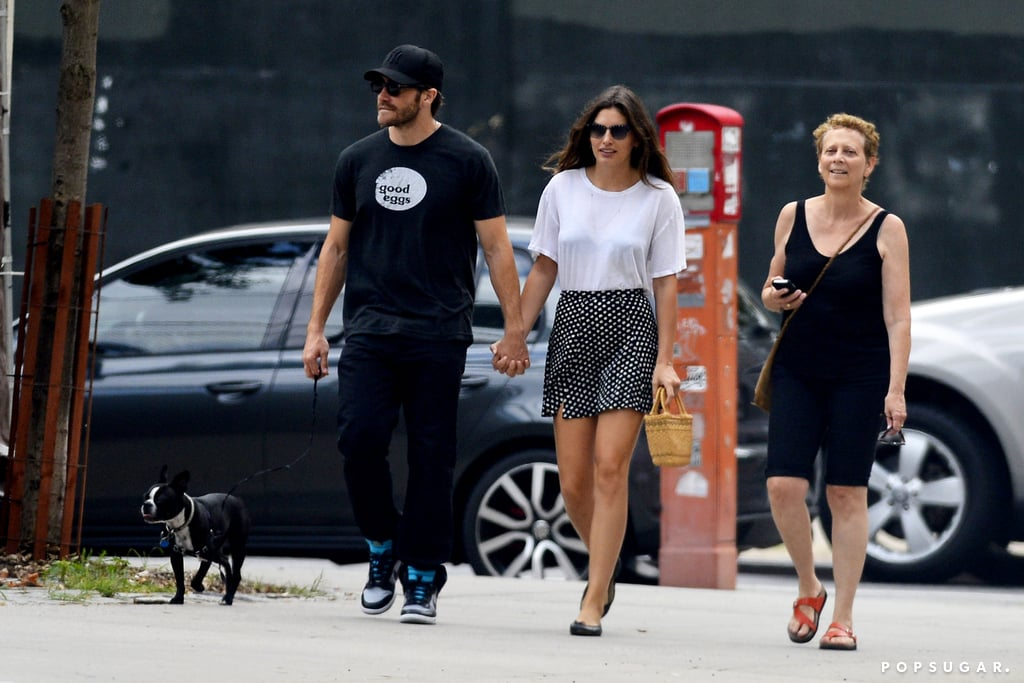 Jake Gyllenhaal and Alyssa Miller were joined by Jake's mom, Naomi Foner, in NYC.