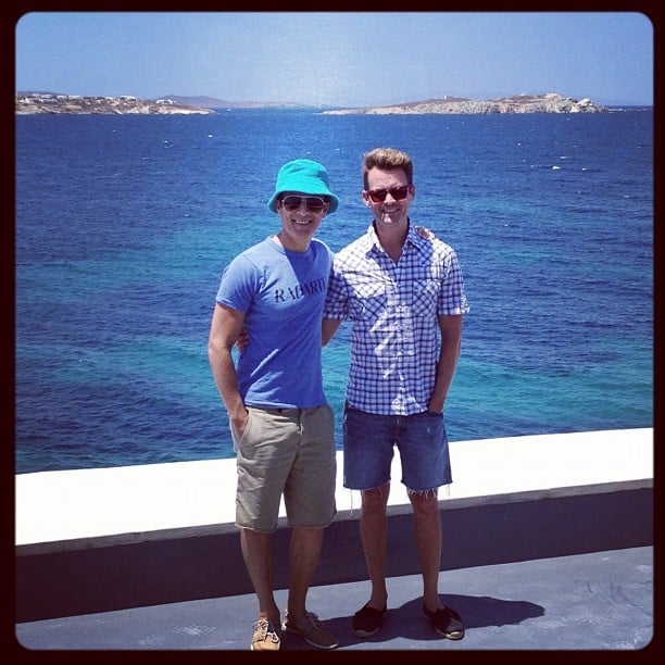 Brad Goreski and his boyfriend enjoyed the holiday in Mykonos. Source: Instagram User mrbradgoreski