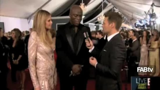 heidi klum, 2010 grammy heidi klum, heidi klum red carpet, heidi and seal, 2010 award season, grammy red carpet