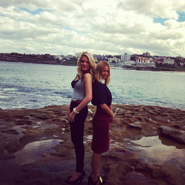 Aussie beauties Erin Molan and Lara Bingle struck a pose together. Source: Instagram user mslbingle