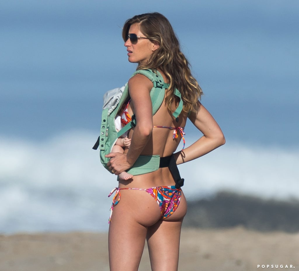 Gisele Bündchen carried Vivian on the beach in Costa Rica.