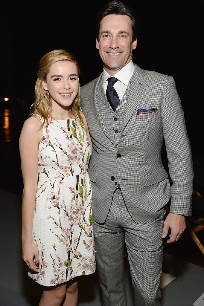 Kiernan Shipka linked up with her onscreen dad.