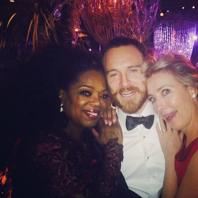 And Even Partied With Michael Fassbender and Oprah at the BAFTAs!