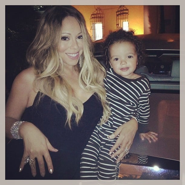 Mariah Carey and Moroccan Cannon dressed to travel the world — in his pajamas! Source: Instagram user mariahcarey