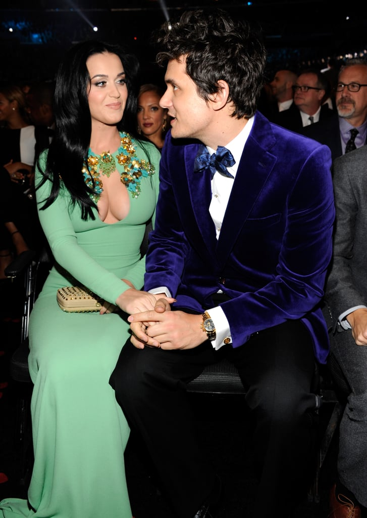 Katy Perry and John Mayer shared a sweet moment at the Grammys in 2013.