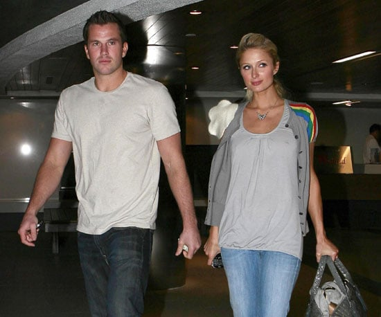 Slide Photo of Paris Hilton and Doug Reinhardt Leaving Dinner Together