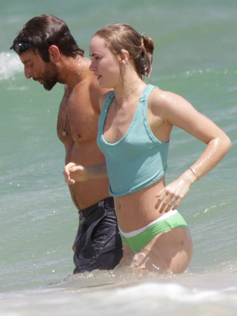 Suki Waterhouse made her own bikini when she hit the water in Hawaii with Bradley Cooper in September.