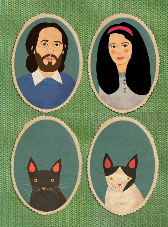 Pretty as a Picture: Custom Pet Portraits From Etsy