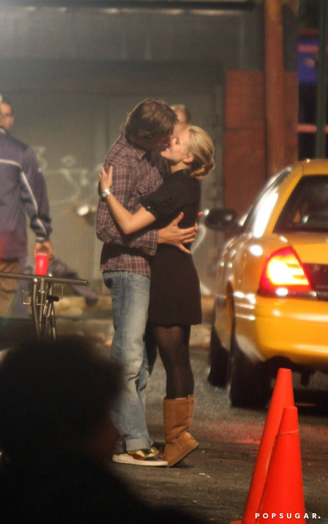 The couple kissed for the cameras while filming When in Rome in NYC in June 2008.