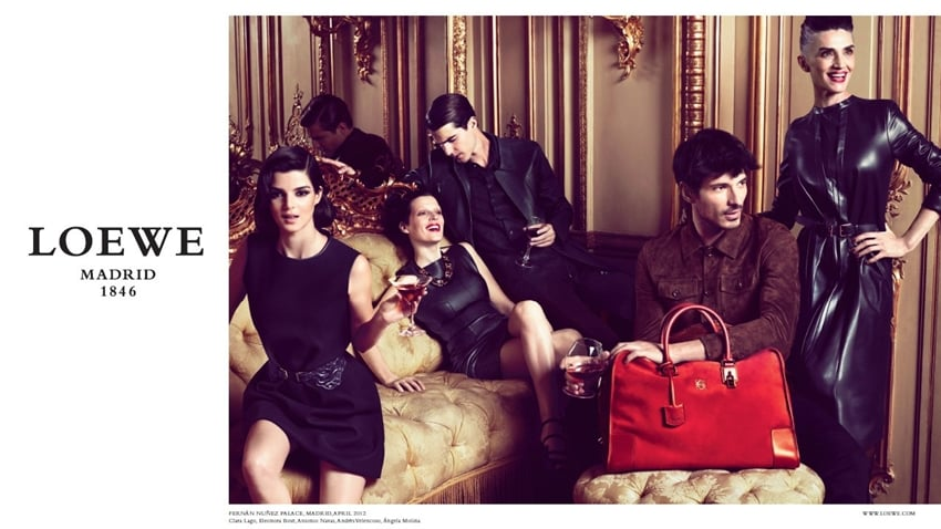 The red bag grabbed our attention in this Loewe Fall ad.