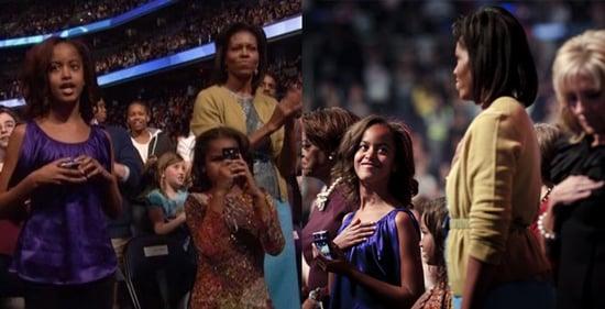 Malia and Sasha Obama Go High Tech For the Kids Ball