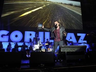 Gorillaz Record New Album on iPad