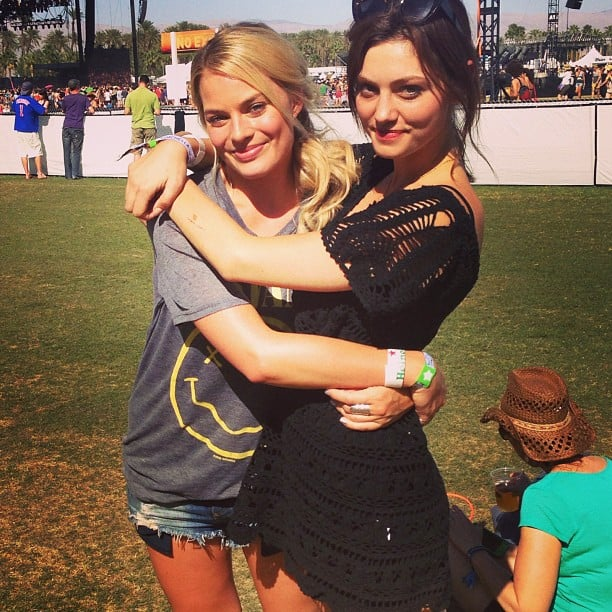 Margot Robbie and Phoebe Tonkin attended the second weekend of Coachella. Source: Instagram user phoebejtonkin