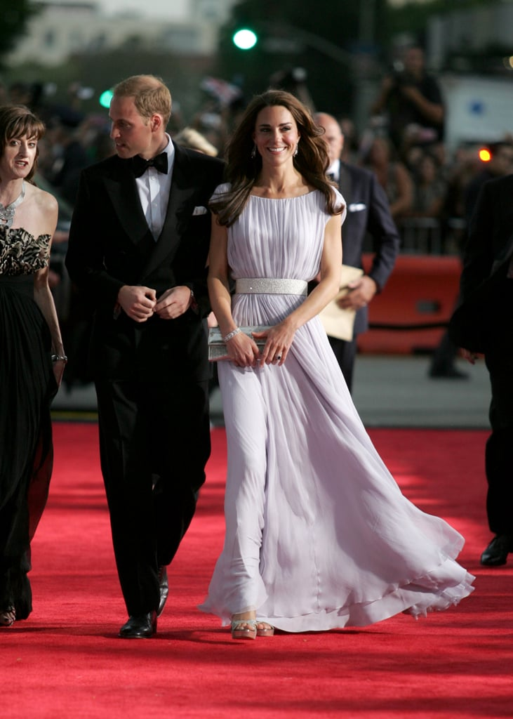Kate and William hosted a BAFTA event during their trip to LA in July 2011.