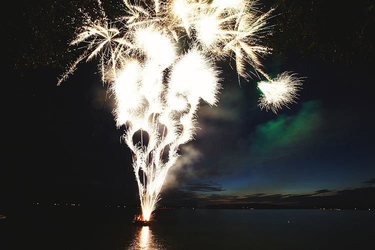 This stunning fireworks show was the icing on the cake at a wedding on Lake Minnetonka in Minnesota.