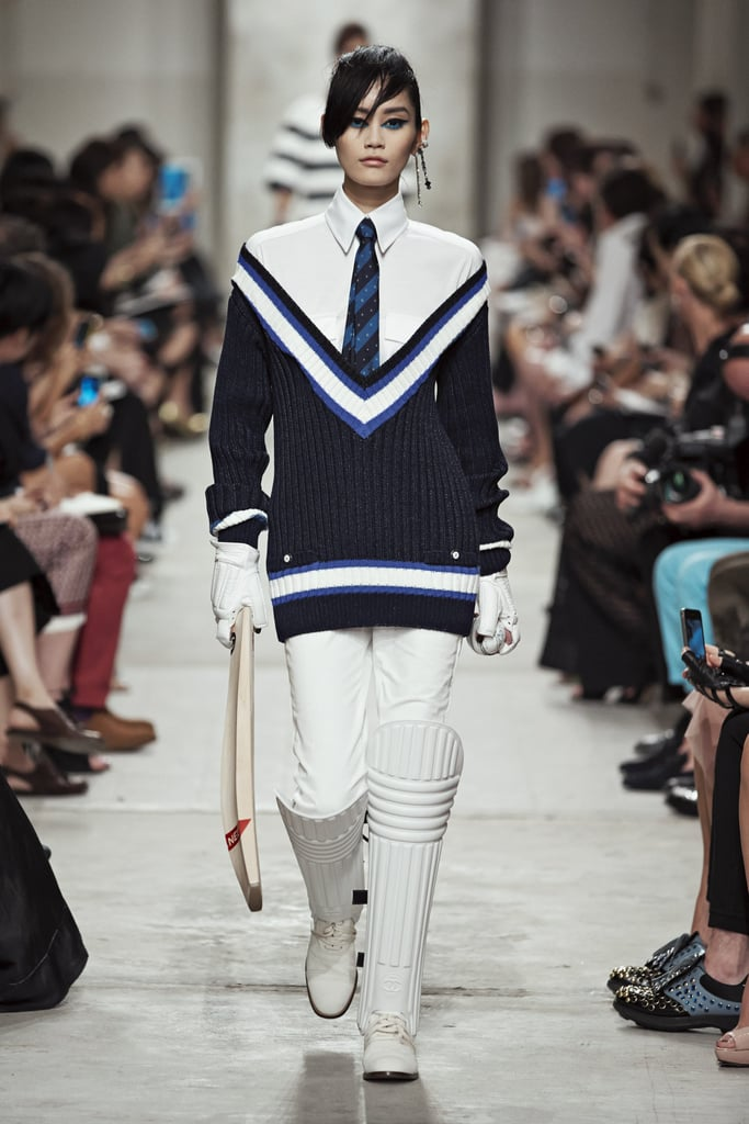 Without a doubt, this show revealed the most stylish cricket uniform available. Source: Chanel