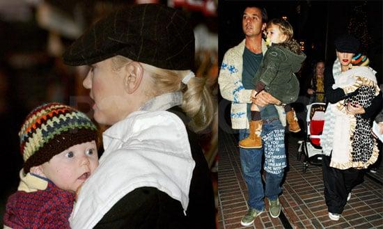 Photos of Gwen Stefani Shopping With Gavin, Kingston, and Zuma