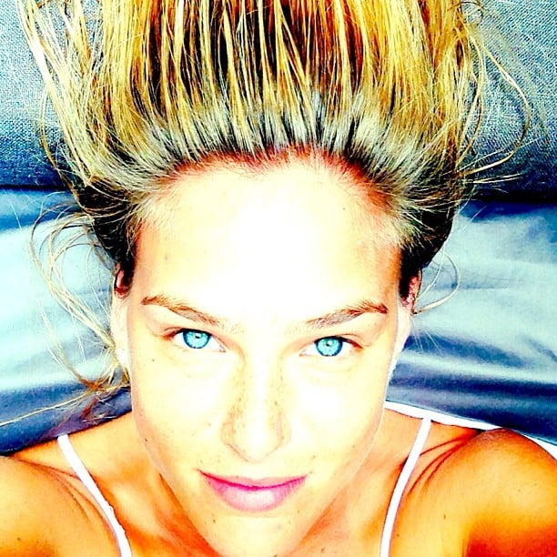 Bar Refaeli shared this hair-raising shot while wishing her followers a happy Jewish New Year. Source: Instagram user barrefaeli