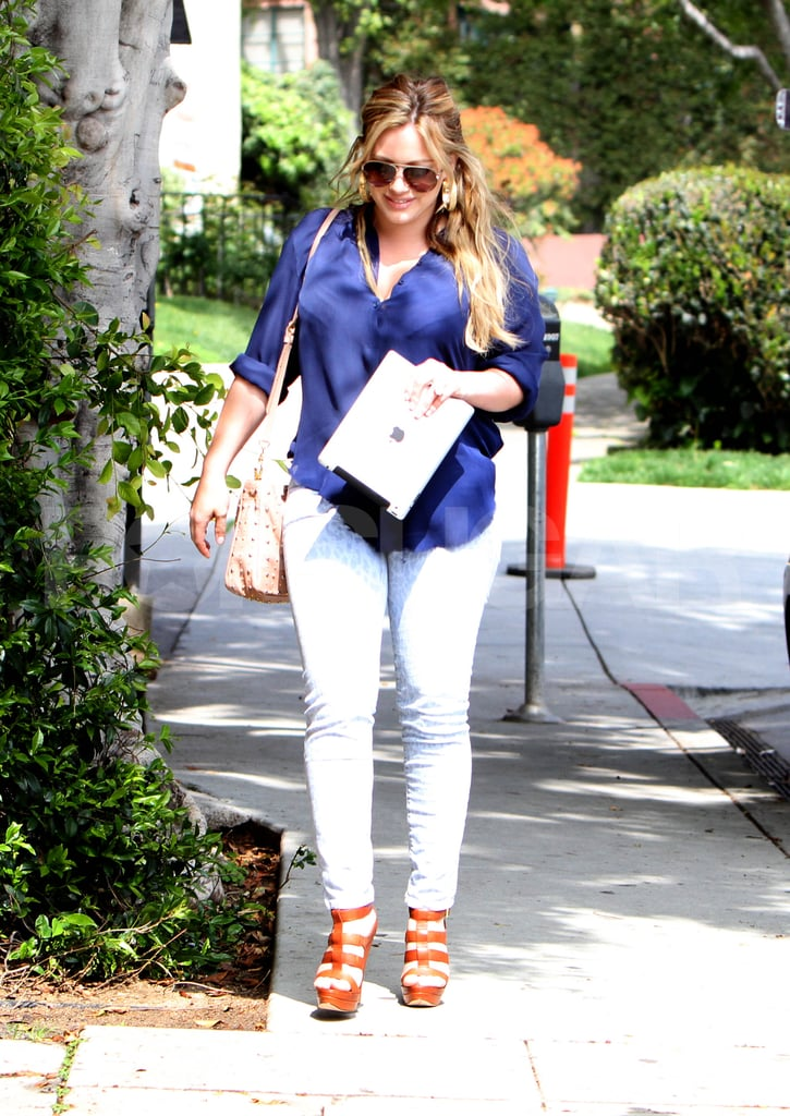 New mom Hilary Duff in LA.