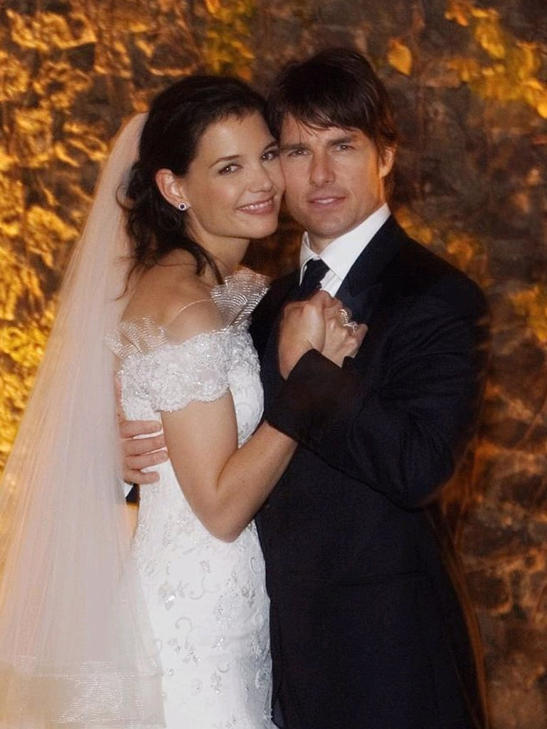 Tom Cruise and Katie Holmes posed together.