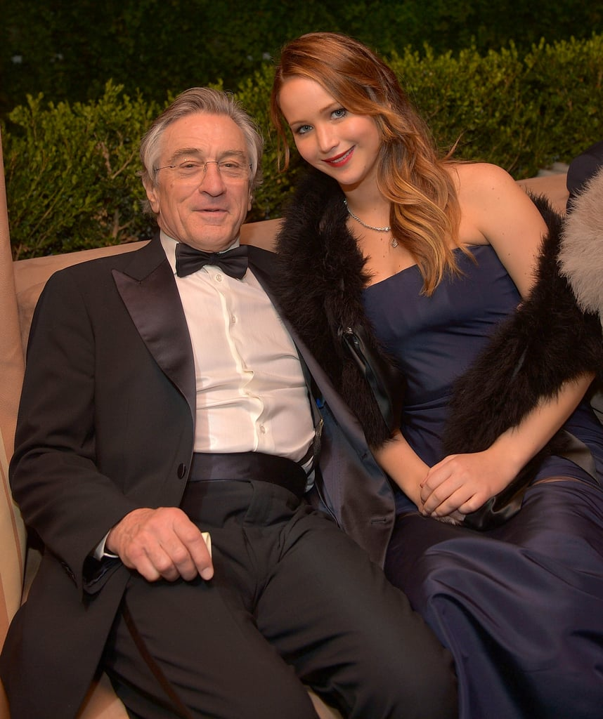 Jennifer Lawrence hit The Weinstein Company's SAG Awards afterparty with Robert De Niro.