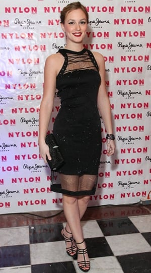 Photos of Leighton Meester Wearing Black Preen Dress at Nylon Mexico Launch Party