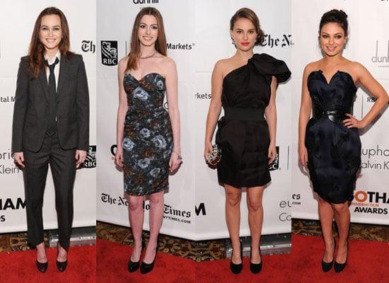 Pictures of Leighton Meester, Mila Kunis, Natalie Portman, Anne Hathaway at Gotham Independent Film Awards