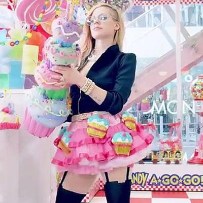 "Avril Lavigne ""Hello Kitty"" Music Video GIFs"