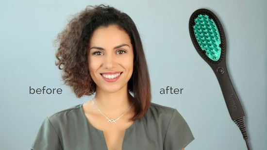 You Have To See This Brush Make Wavy Hair Straight In One Stroke