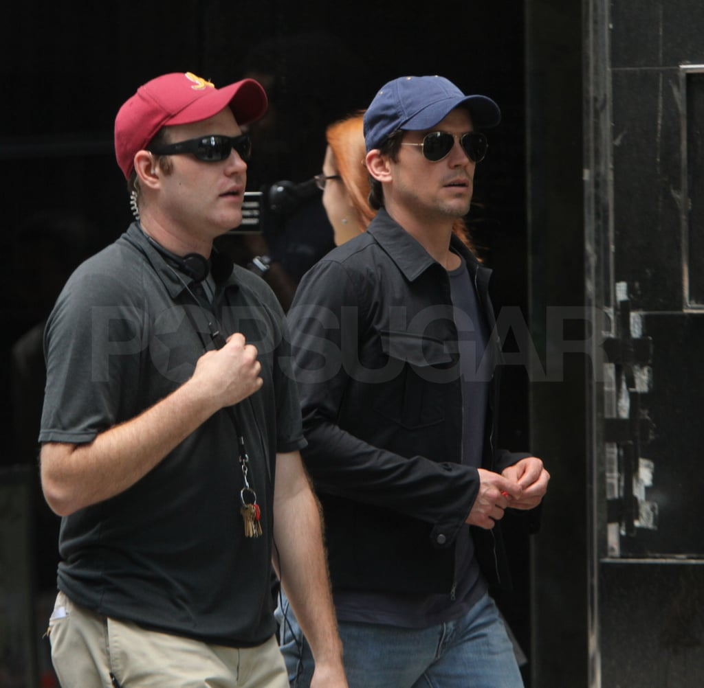 Matt Bomer arrived in his street clothes.