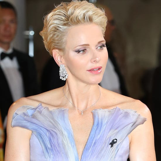 Princess Charlene Armani Dress at Red Cross Gala 2016