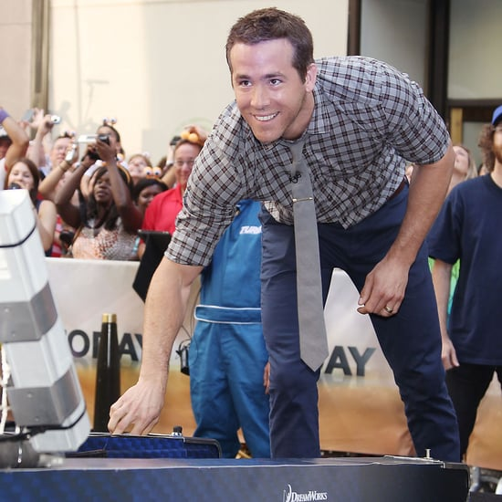 Ryan Reynolds Playing Skee Ball on the Today Show | Pictures