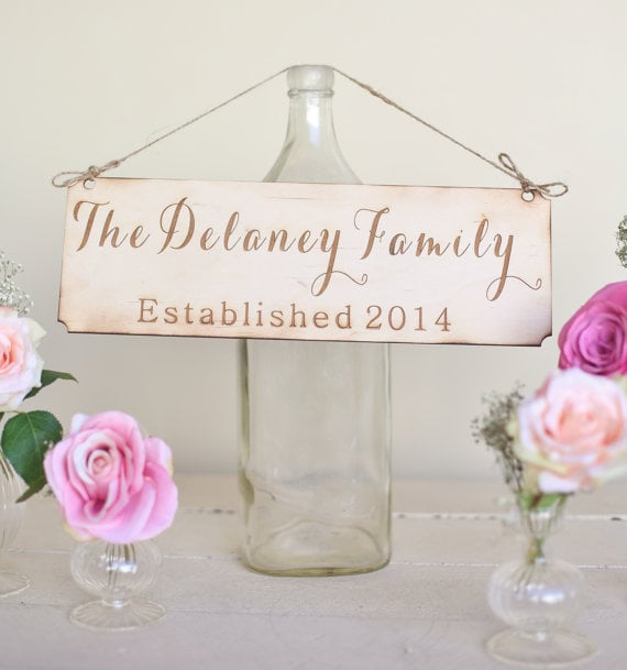 Rustic Family Sign