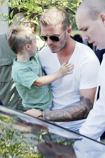Photos of David and Cruz Beckham With Matching Haircuts