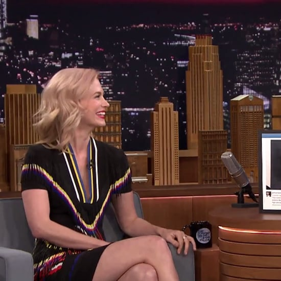 January Jones's Throwback Pictures on The Tonight Show