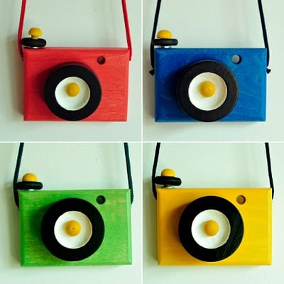 Wooden Toy Cameras ($19 each)