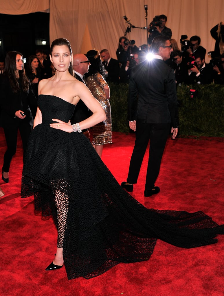 Jessica Biel at the Met Gala 2013.