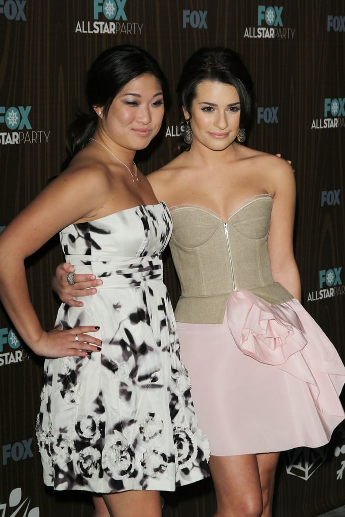 She and Jenna Ushkowitz were all dolled up for a Fox afterparty in LA back in January 2010.