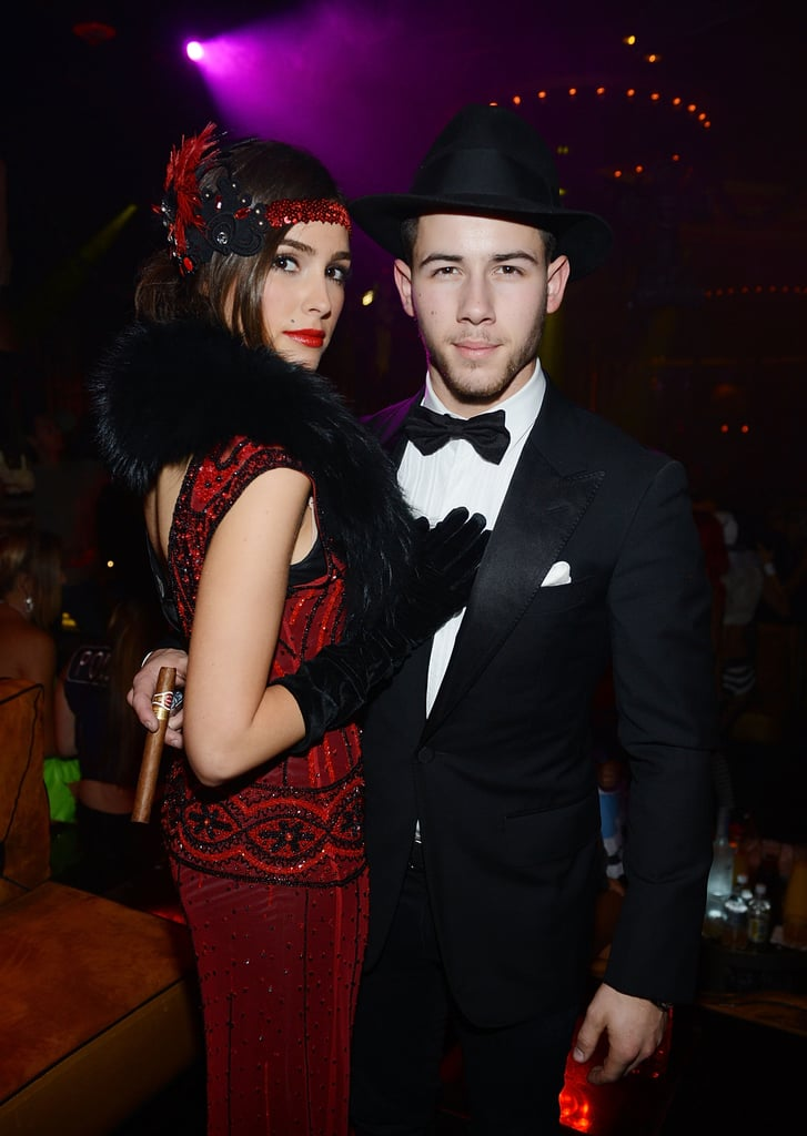 Nick Jonas and Olivia Cuplo paired up as a 1920's couple in Las Vegas in 2014.