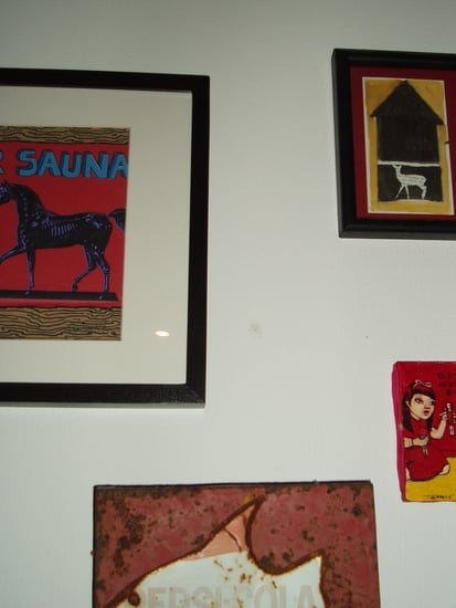 Dressing My Walls:  Grouping Art by Color