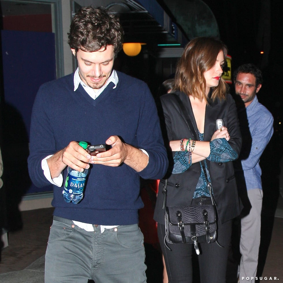Leighton Meester and Adam Brody had a Saturday date at the ArcLight Cinema in Hollywood.
