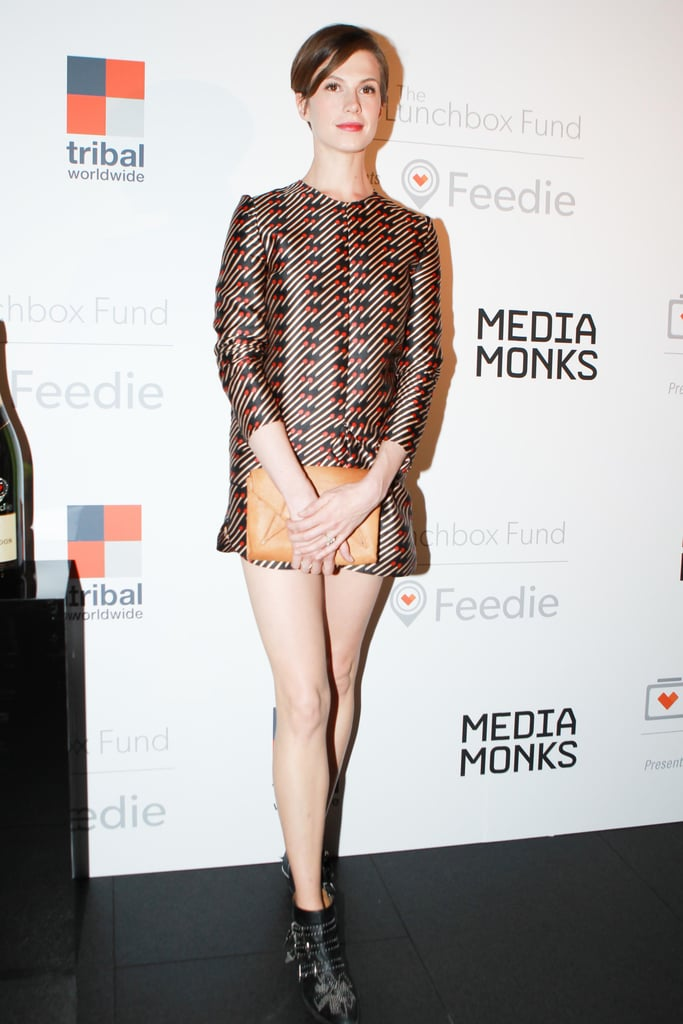 Elettra Wiedemann joined The Lunchbox Fund in Stella McCartney's silk twill print top and shorts.