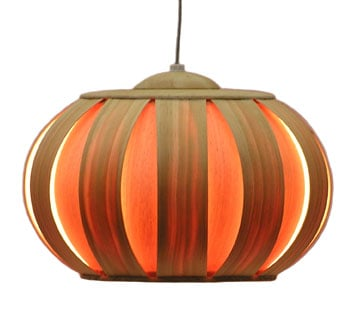 Autumn Decor: Pumpkin Look Alike Lamp